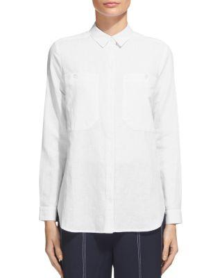 Whistles Claudia Pocket Shirt In White