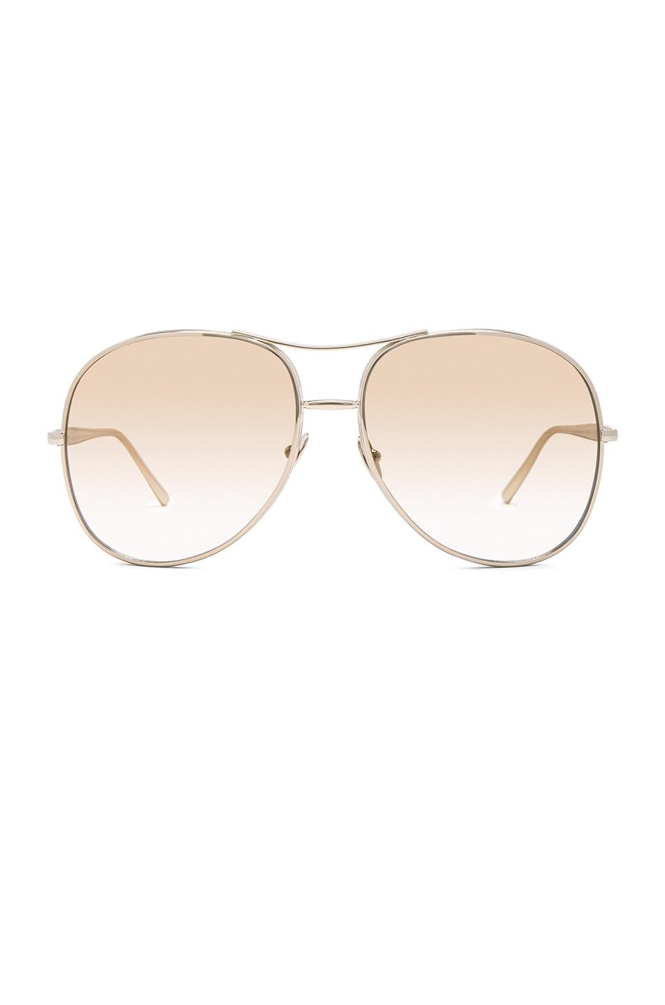 ChloÉ Chloe Nolla Aviator In Metallics,Brown