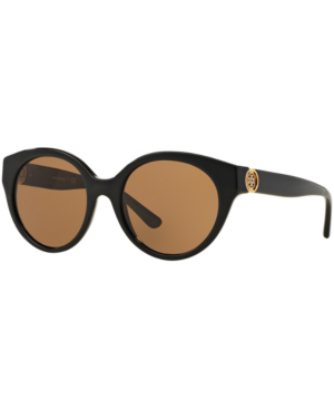 Tory Burch 52Mm Retro Sunglasses - Black In Black/Grey