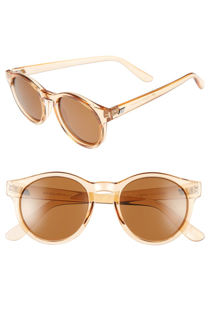 Le Specs Hey Macarena 51Mm Polarized Retro Sunglasses - Blonde