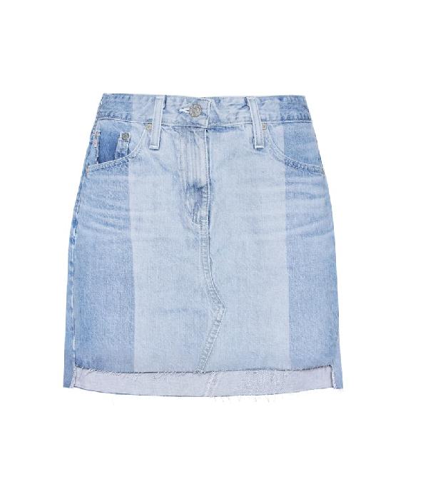 Ag Sandy Denim Skirt In 19 Year Fracture In Blue