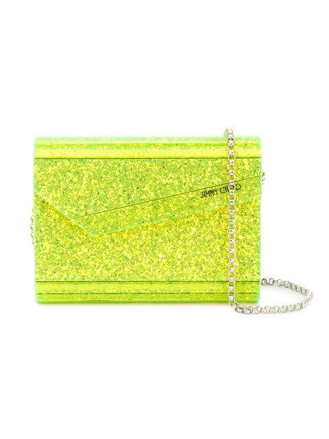 Jimmy Choo Yellow Candy Clutch Bag In Yellow/Orange