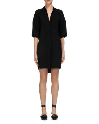 Whistles Solid Lola Dress In Black