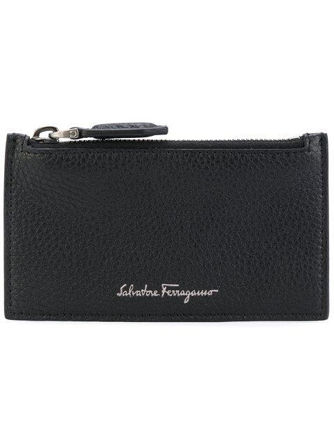 Salvatore Ferragamo Firenze Credit Card Holder In Black