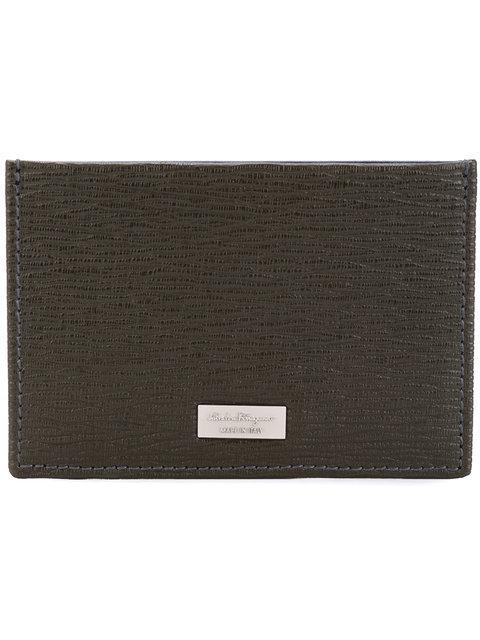 Salvatore Ferragamo 'New Revival' Card Holder - Grey