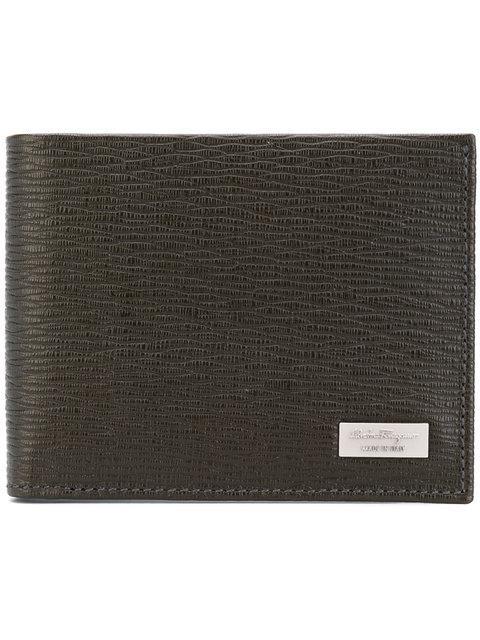 Salvatore Ferragamo 'New Revival' Billfold Card Holder - Grey