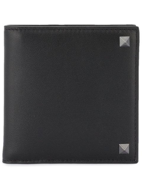 Valentino Garavani Rockstud Billfold Wallet In Black