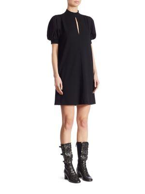 ChloÉ Puff Sleeve Dress In Black