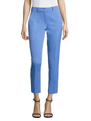 Michael Kors Samantha Cropped Pants In Cadet