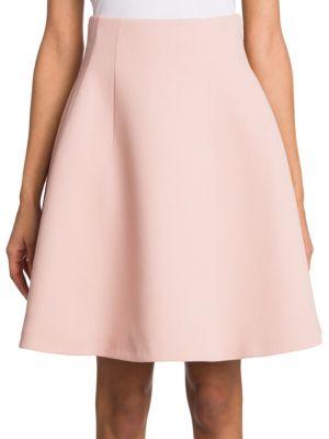 Miu Miu Wool Flare Skirt In Blush