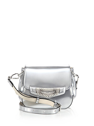a246faaad87f Tod's Mini Whipstitched Metallic Leather Crossbody Bag In Metallic-Blush