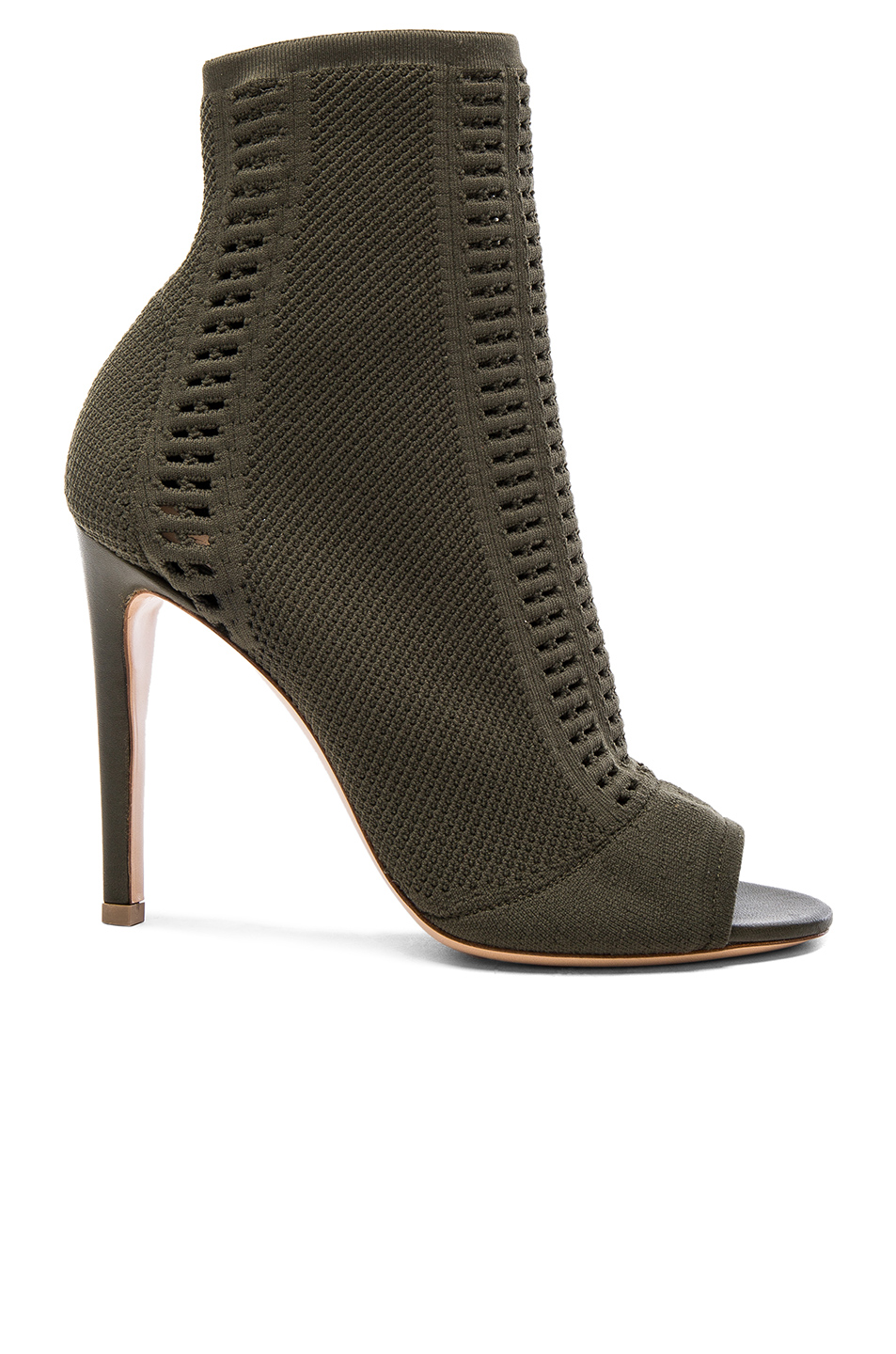 Gianvito Rossi Knit Vires Booties In Green