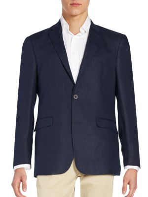 Tommy Hilfiger Regular-Fit Linen Blazer In Navy