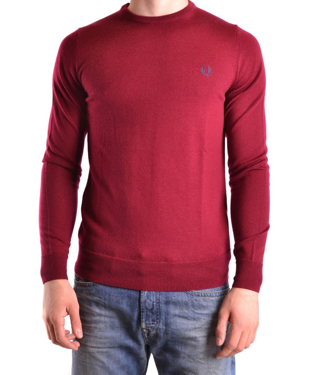 Fred Perry Men's  Red Wool Sweater