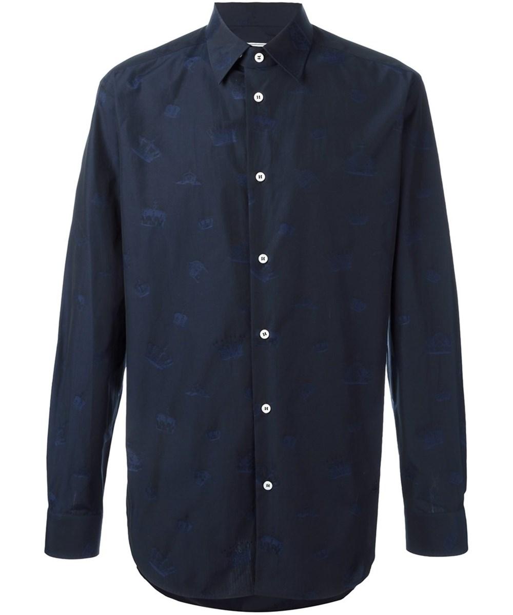 Vivienne Westwood Men's  Blue Cotton Shirt