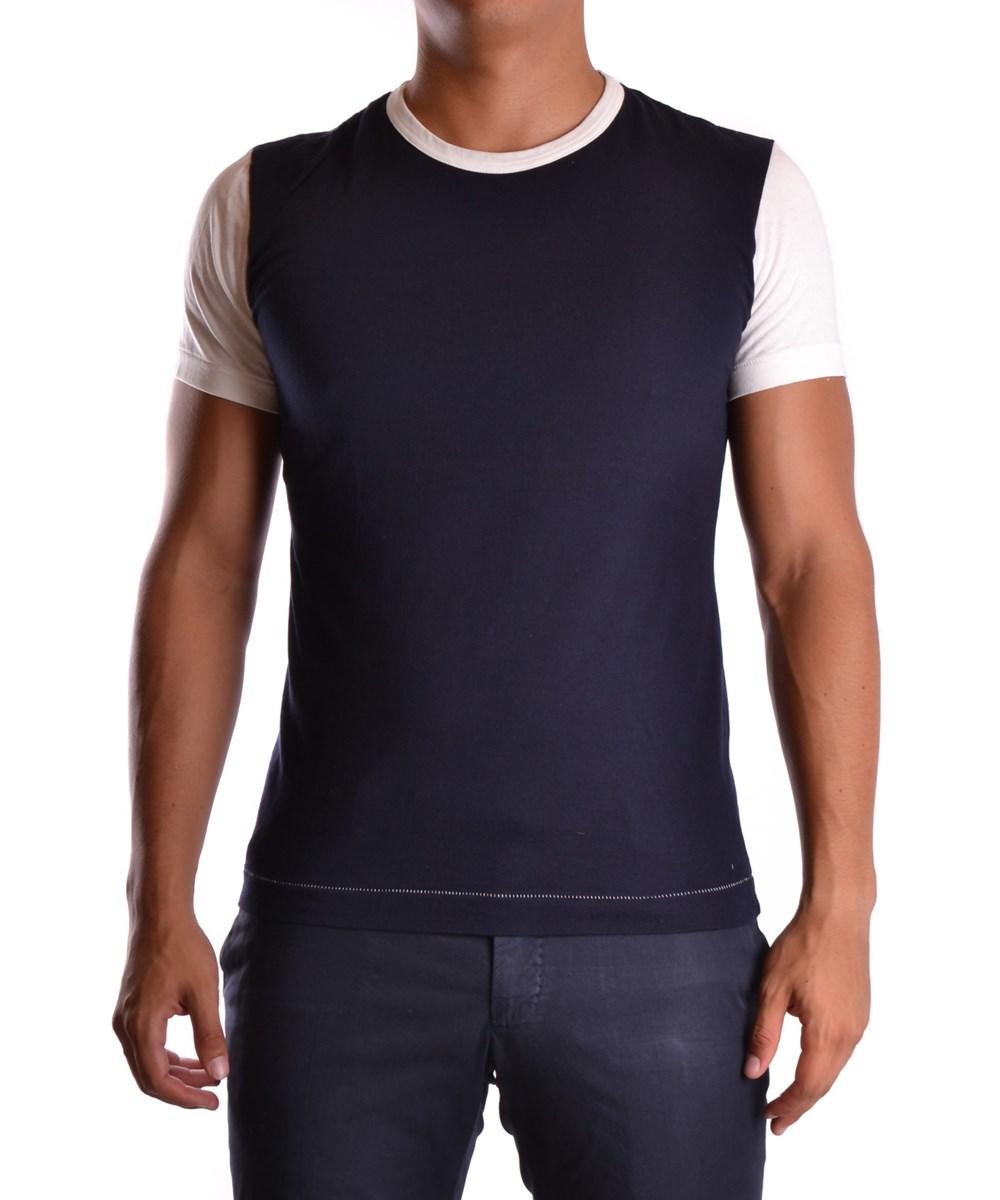 Yohji Yamamoto Men's  Blue Cotton T-Shirt