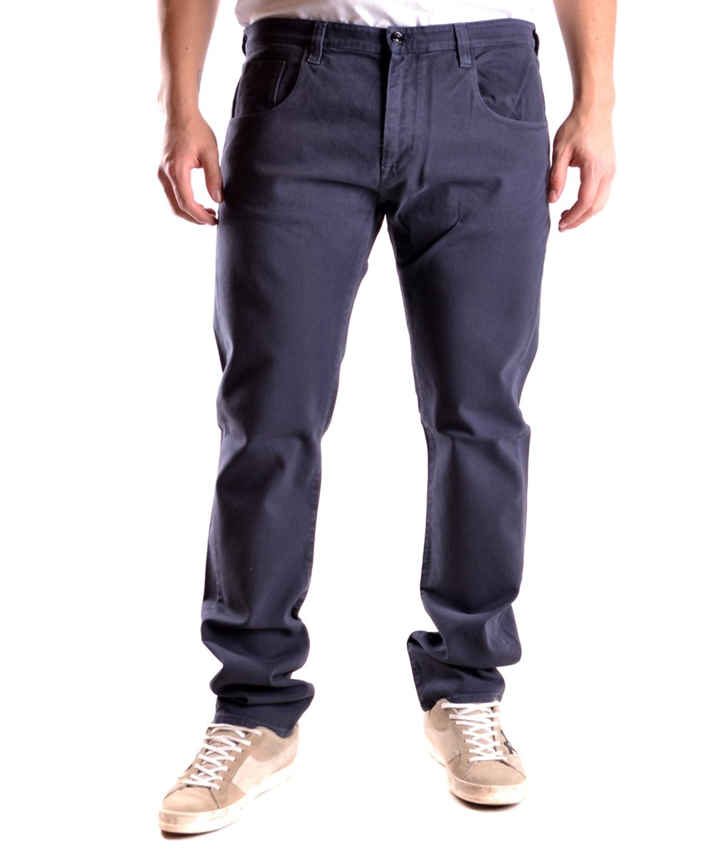 Fred Perry Men's  Blue Cotton Jeans
