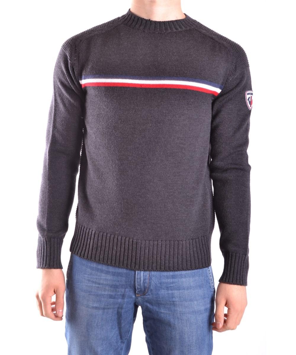 Rossignol Men's  Grey Wool Sweater