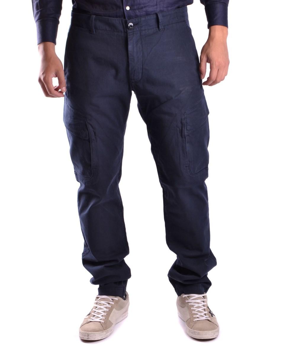 Stone Island Men's  Blue Cotton Pants