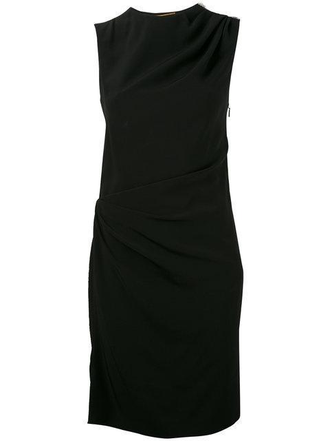 Saint Laurent Draped Sleeveless Mini Dress