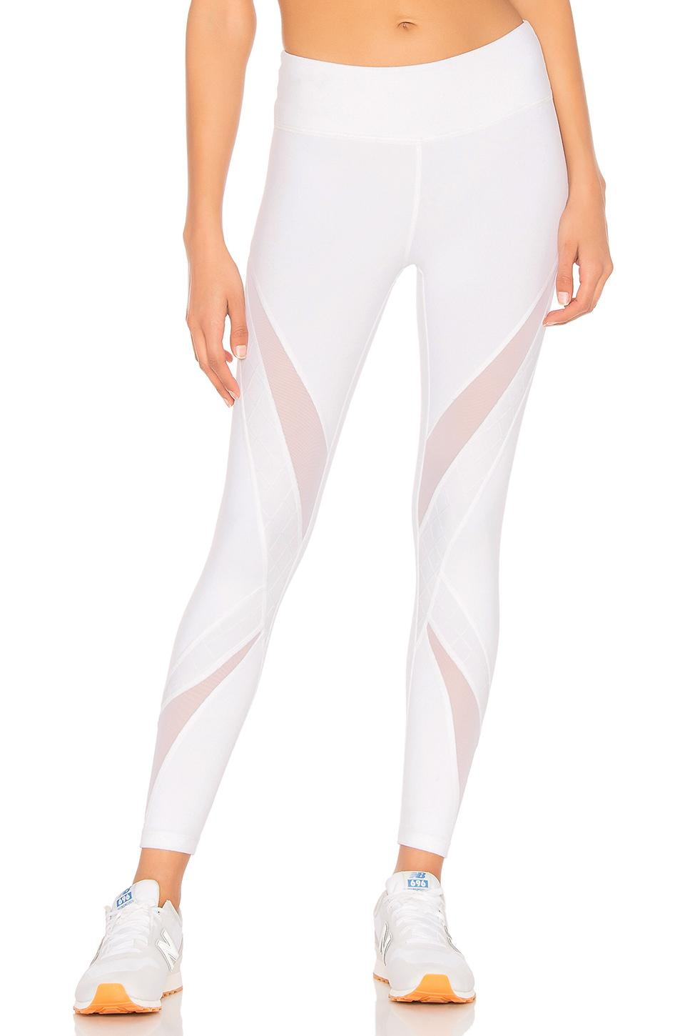 Beyond Yoga Quilt Ahead Midi Legging In White