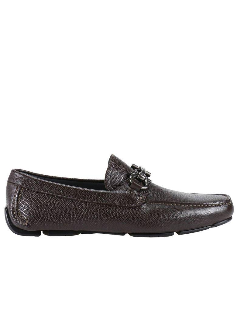 Salvatore Ferragamo Loafers Shoes Men  In Brown