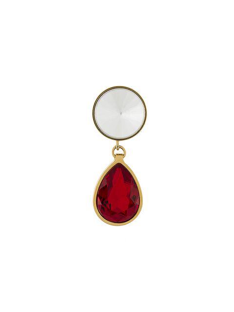 Dsquared2 Magnetic Jewel Mono Earring In Fuchsia