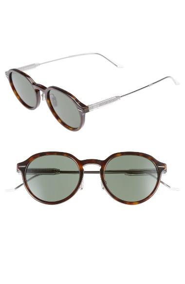Dior Homme Motion 2 50Mm Sunglasses - Dark Havana/ Green