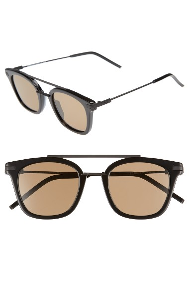 Fendi Urban Men's Square Sunglasses In Black
