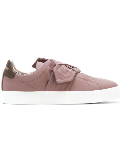 Burberry Westford Slip-On Sneakers In Pink
