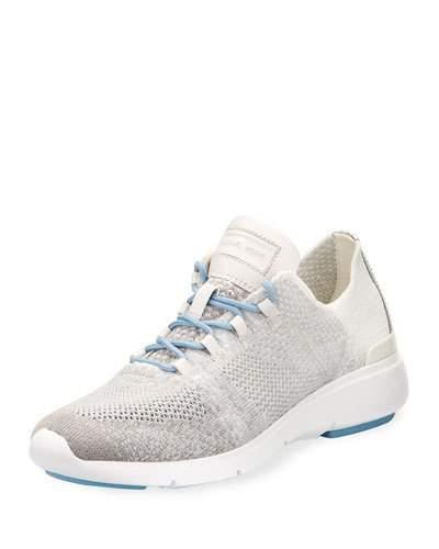 Michael Michael Kors Skyler Knit Lace-Up Trainer Sneaker, Gray In Allumsilv