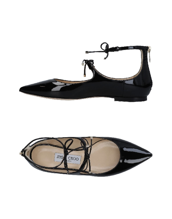 Jimmy Choo Sage Ballerinas In Black