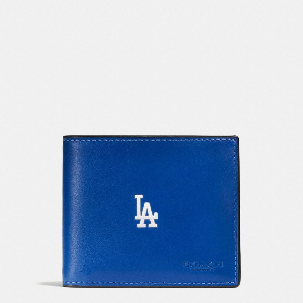 Coach 3-In-1 Wallet In Sport Calf Leather With Mlb Team Logo In La Dodgers