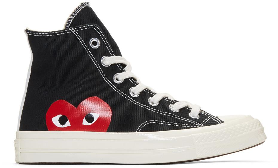 Comme Des GarÇOns Play Black Converse Edition Chuck Taylor All-Star '70 High-Top Sneakers