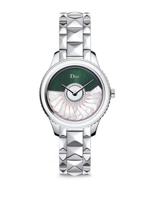 Dior Viii Grand Bal Limited-Edition Montaigne Diamond, Alligator & Stainless Steel Automatic Watch In Silver-Multi