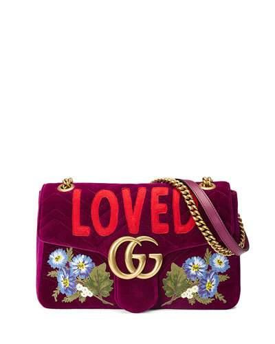 Gucci Gg Marmont 2.0 Small Loved Shoulder Bag, Fuchsia In Bordeaux