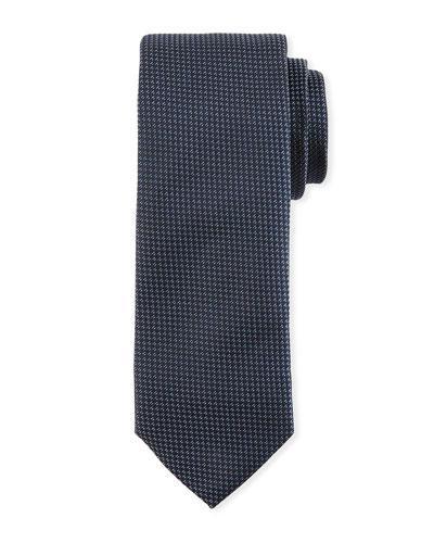Boss Textured Silk Tie, Navy