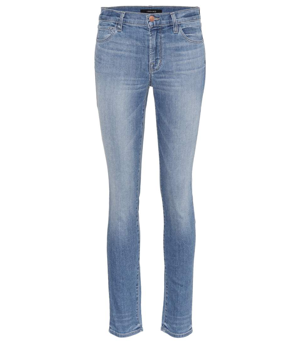 J Brand 811 Mid-Rise Skinny Jeans In Blue