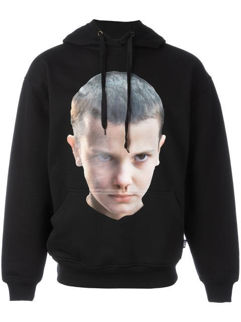 Ih Nom Uh Nit Stranger Things Eleven Hooded Sweatshirt In Black