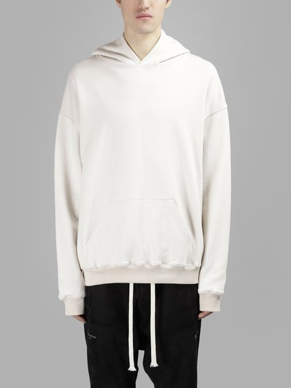 Ih Nom Uh Nit Men's White Basic Hoodie Sweater