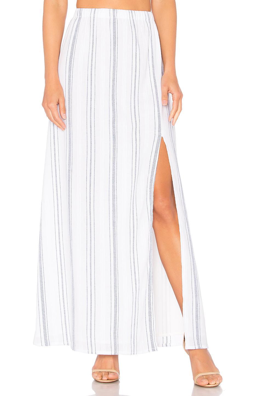 Clayton Jen Slit Skirt In White