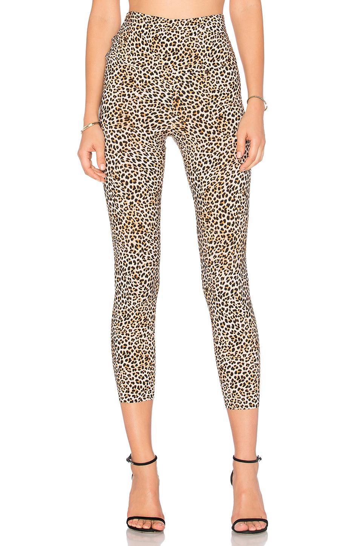 Norma Kamali Cropped Legging In Leopard
