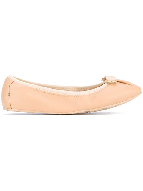 Salvatore Ferragamo My Joy Ballerina Shoes In Neutrals
