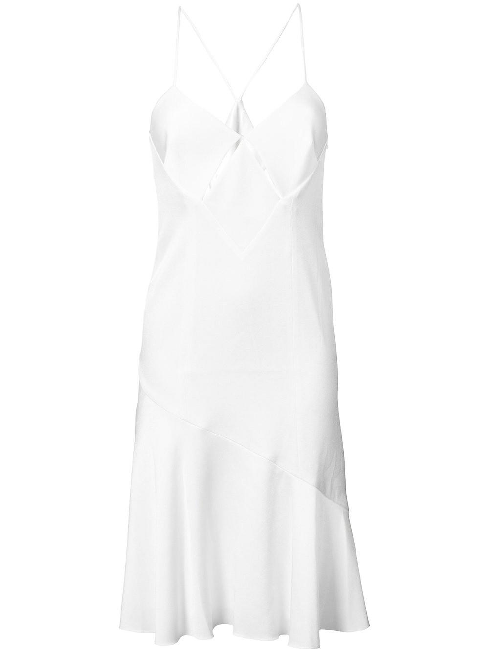Galvan White Midi Slip Dress