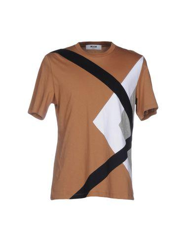 Msgm T-Shirts In Camel