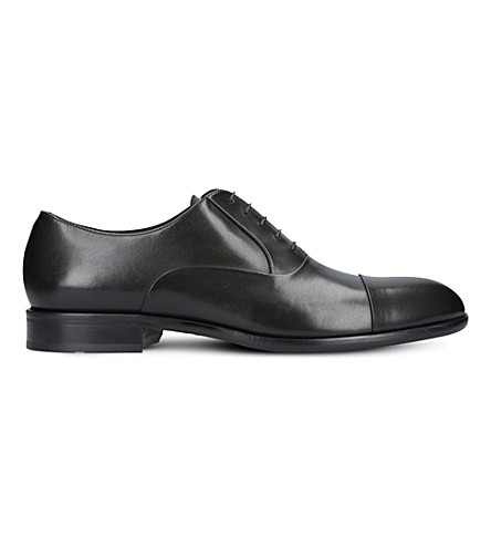 Boss Bristol Lace-Up Leather Oxford Shoes In Black