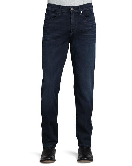 A.W.A.K.E. Luxe Performance: Carsen Nakkitta Jeans, Dk Blue In Blue Ice