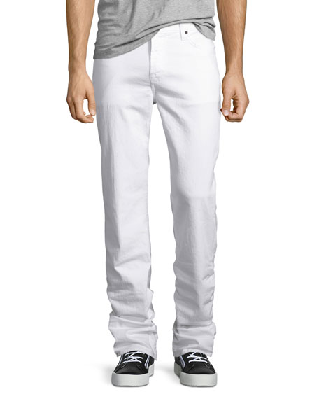 7 For All Mankind Standard Clean White Jeans, White