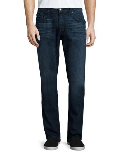 7 For All Mankind Straight-Leg Foolproof Denim Jeans, Alpha