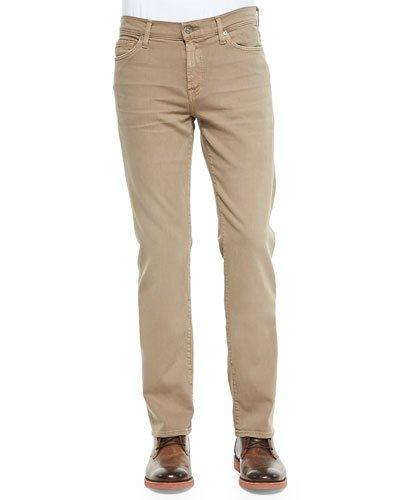 7 For All Mankind Luxe Performance: Slimmy Sand Jeans